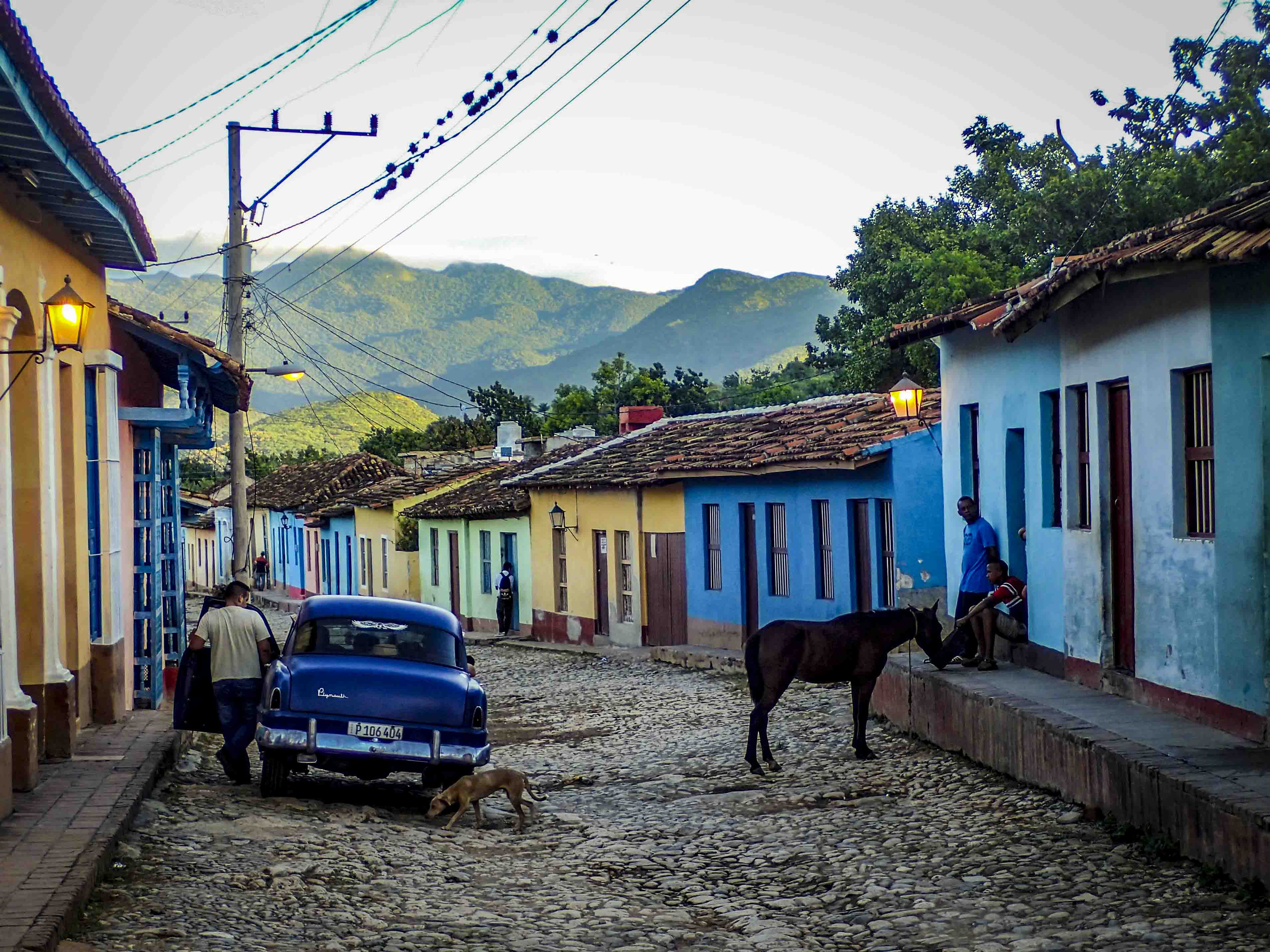 Leven in de straten van Trinidad