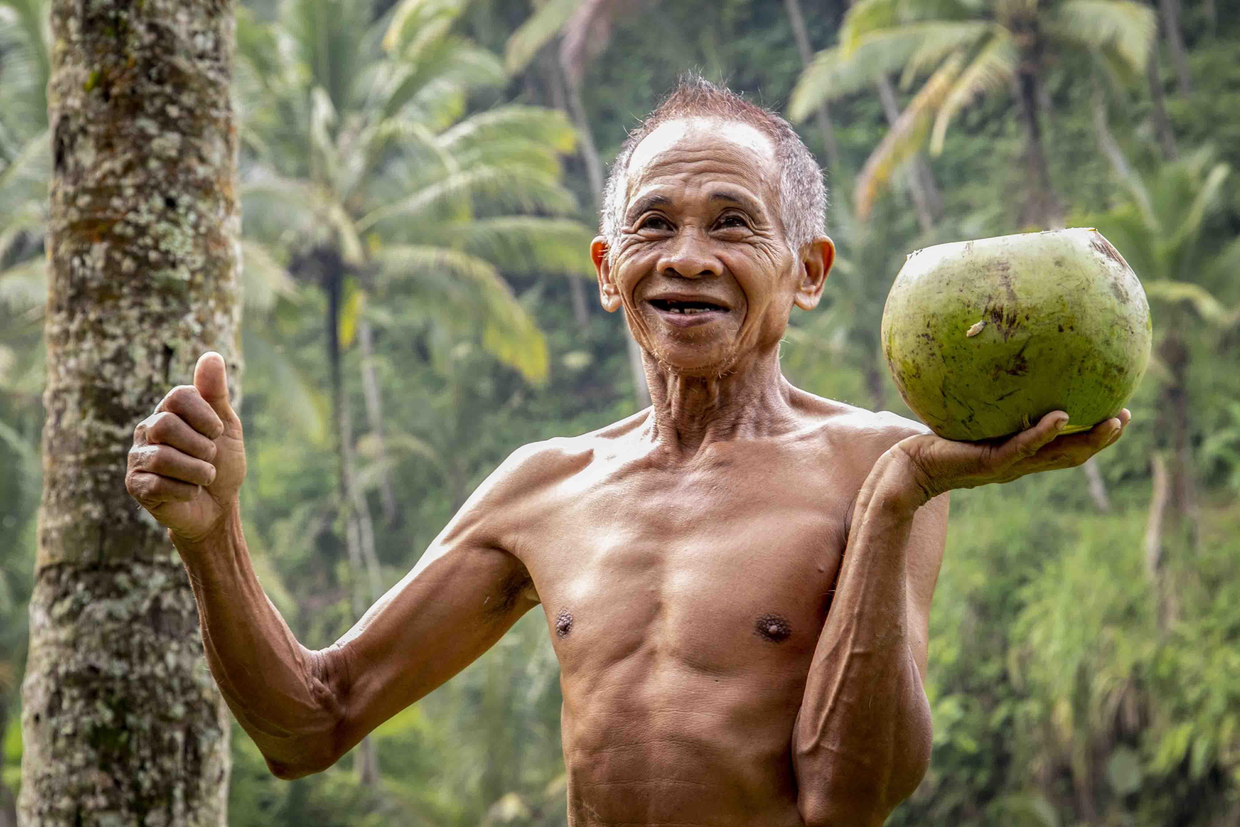 Een kokosnoot van Ketut