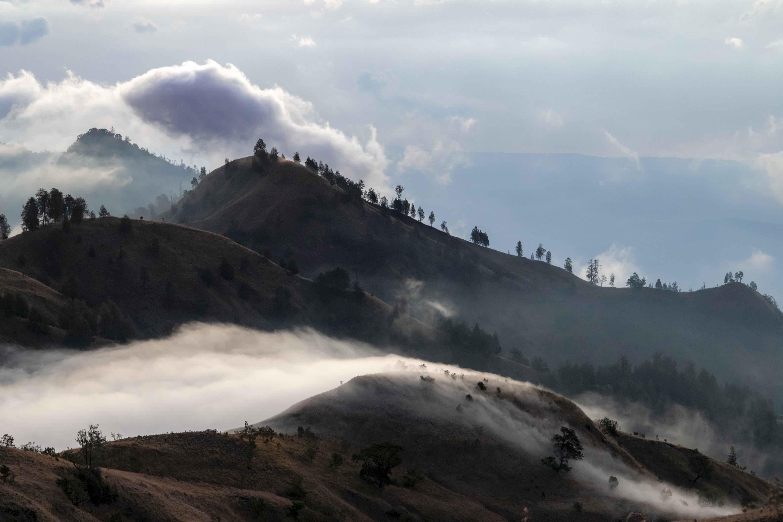 Van kraterrand tot kust vanaf Rinjani op Lombok